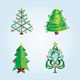 Reeks van Kerstmisboom Stock Foto
