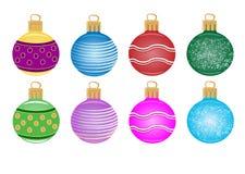 Reeks van Kerstmisdecoratie Stock Fotografie
