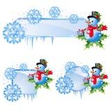 Reeks van Kerstmisframes Stock Fotografie