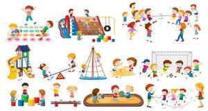 Reeks van kinderen het spelen vector illustratie