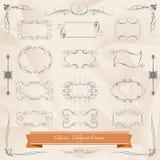 Reeks van Klassieke elegante kadersvector Royalty-vrije Stock Foto