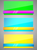 Reeks van kleurrijk document met lint. Royalty-vrije Stock Foto's