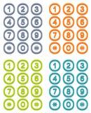 Reeks van 4 kleurrijk gebruikersinterfacetoetsenbord Royalty-vrije Stock Foto