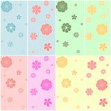 Reeks van kleurrijk naadloos patroon Royalty-vrije Stock Fotografie