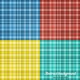 Reeks van kleurrijk Plaidpatroon Vector illustratie Royalty-vrije Stock Fotografie