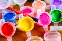 Reeks van kleurrijk vervenclose-up Stock Afbeeldingen