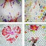 Reeks van kleurrijke achtergrond van het abstrack de naadloze mozaïek Royalty-vrije Stock Afbeeldingen