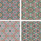 Reeks van kleurrijke achtergrond van het abstrack de naadloze mozaïek Stock Foto