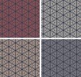 Reeks van kleurrijke geometrische patroonachtergrond Royalty-vrije Stock Afbeeldingen