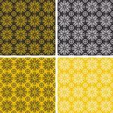Reeks van kleurrijke geometrische patroonachtergrond Royalty-vrije Stock Foto's