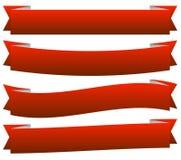 Reeks van 6 kleurrijke, levendige knoop, bannerachtergronden met leeg s vector illustratie