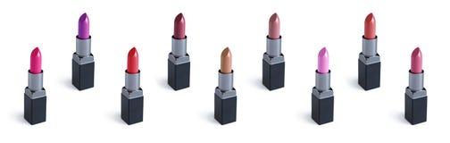 Reeks van kleurrijke lippenstift Royalty-vrije Stock Foto's