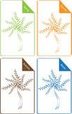 Reeks kleuren seizoengebonden bomen stock illustratie