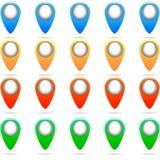 Reeks van kleurrijke speldenvector Royalty-vrije Stock Foto
