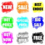 Reeks van kleurrijke verf splat voor handel vector illustratie