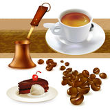 Reeks van koffie Stock Foto's
