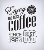 Reeks van koffie, koffie typografische elementen Royalty-vrije Stock Foto