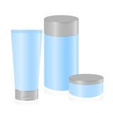 Reeks van kosmetische container royalty-vrije illustratie