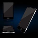 Reeks van lege smartphone Stock Afbeeldingen