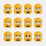 Reeks van leuke gladiator emoticons Stock Afbeeldingen