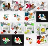 Reeks van licht, document infographic ontwerpoptie Royalty-vrije Stock Afbeelding