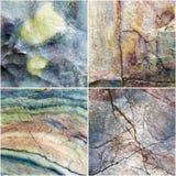Reeks van lijn op de textuurachtergrond van de kromme Marmeren steen royalty-vrije stock fotografie