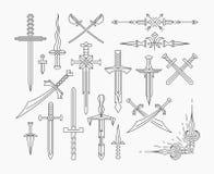 Reeks van lineair historisch wapen Stock Afbeeldingen
