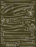 Reeks van lint over bruine achtergrond, vector Stock Afbeelding