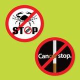 Reeks van 2 Lung Cancer Awareness kenteken stock foto
