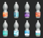 Reeks van malplaatje leeg etiket voor glas, plastiek of document fles met nieuw ontwerp royalty-vrije illustratie