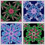 Reeks van Mandala Seamless Patterns Zwart-wit rond ornament royalty-vrije illustratie