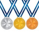 Reeks van medaille Stock Fotografie