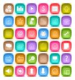 Reeks van media sociaal pictogram Stock Afbeeldingen