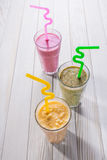 Reeks van milkshake royalty-vrije stock foto