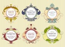 Gekleurde kaders met strepen royalty-vrije illustratie