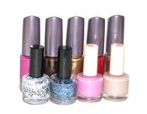 Reeks van multi-colored nagellak Stock Afbeelding