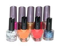 Reeks van multi-colored nagellak Stock Fotografie