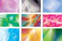 Reeks van multi-coloured abstracte achtergrond Stock Afbeeldingen
