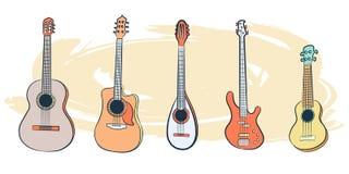 Reeks van Musical instrument-01 vector illustratie