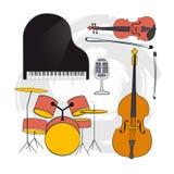 Reeks van Musical instrument-02 Stock Afbeelding