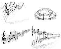 Reeks van muziekachtergrond Stock Fotografie