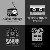 Reeks van muziekembleem Royalty-vrije Stock Fotografie