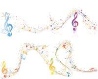 Reeks van Muzikaal Ontwerp stock illustratie