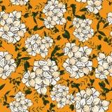 Reeks van naadloos bloemenornament in vector De getrokken stijl van het bloempatroon hand stock illustratie