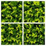 Reeks van naadloos camouflagepatroon Stock Foto's