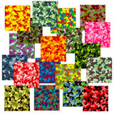 Reeks van naadloos camouflagepatroon Royalty-vrije Stock Foto's