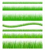 Reeks van naadloos gras stock illustratie