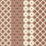 Reeks van naadloos patroon 4. Royalty-vrije Stock Fotografie
