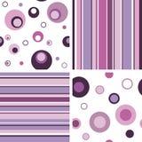 Reeks van naadloos patroon Stock Afbeelding