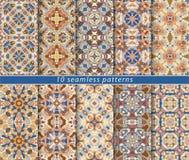 Reeks van naadloos patroon Stock Foto